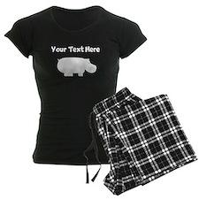 Custom Hippopotamus Silhouette Pajamas