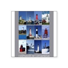 """Cute Lighthouse Square Sticker 3"""" x 3"""""""