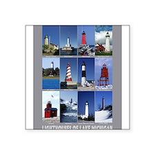 """Unique Lighthouse Square Sticker 3"""" x 3"""""""