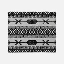 Black And White Aztec Pattern Throw Blanket