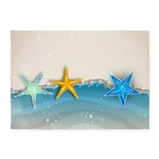 Starfish and Sand 5'x7'Area Rug