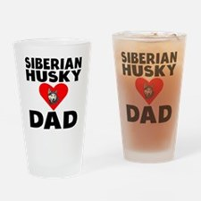 Siberian Husky Dad Drinking Glass