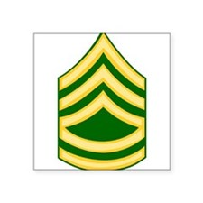 """Funny Army first sergeant insignia Square Sticker 3"""" x 3"""""""