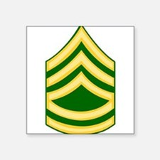 "Cute First sergeant Square Sticker 3"" x 3"""