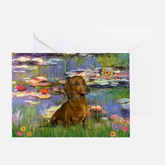 Lilies & Dachshund Greeting Card