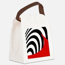 Red Wave Abstract Canvas Lunch Bag