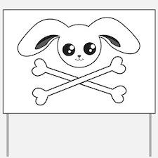 Bunny Skull Yard Sign