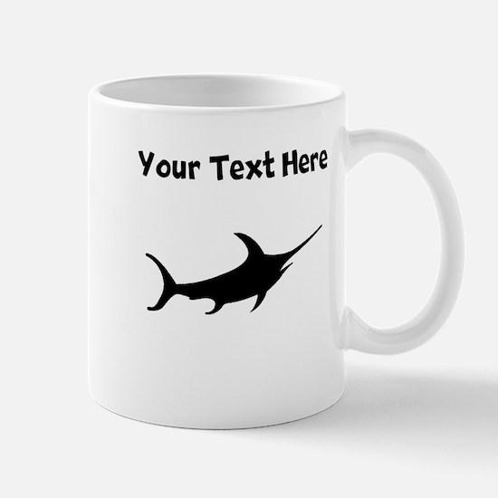 Custom Swordfish Silhouette Mugs