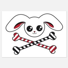 Bunny Crossbones Invitations