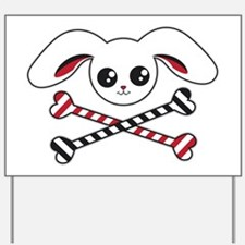 Bunny Crossbones Yard Sign
