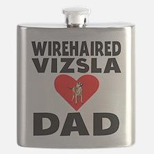 Wirehaired Vizsla Dad Flask