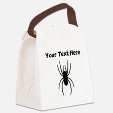 Custom Spider Silhouette Canvas Lunch Bag