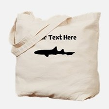 Custom Leopard Shark Silhouette Tote Bag