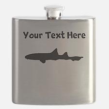 Custom Leopard Shark Silhouette Flask