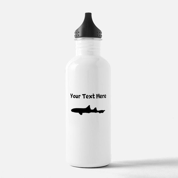 Custom Leopard Shark Silhouette Water Bottle