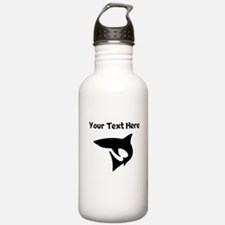 Custom Shark Silhouette Water Bottle