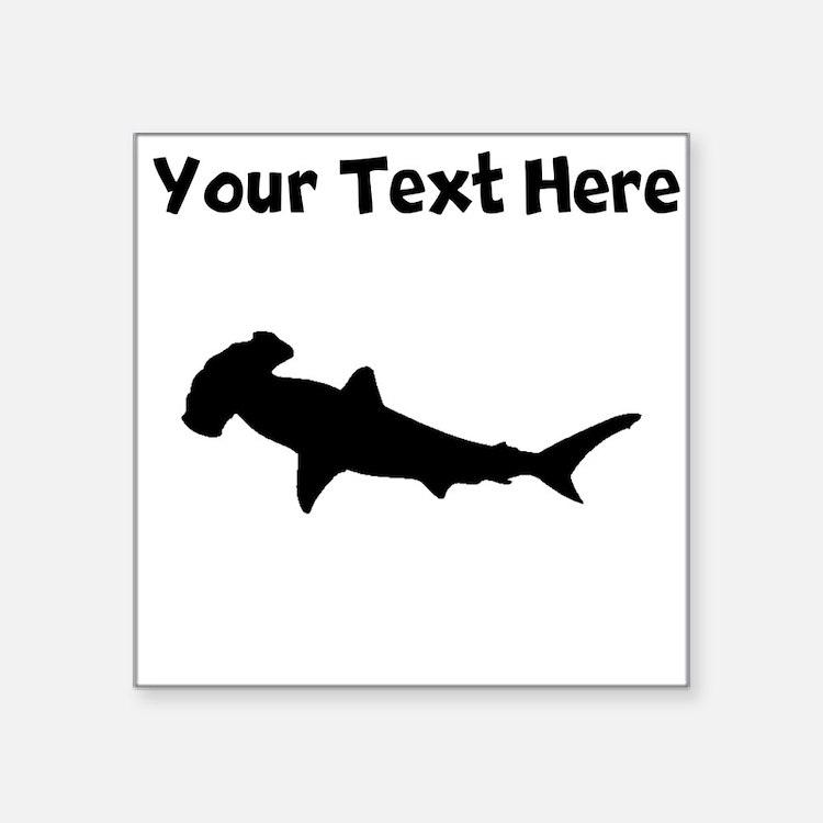 Custom Hammerhead Shark Silhouette Sticker