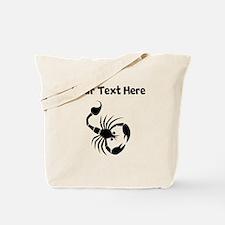 Custom Scorpion Silhouette Tote Bag