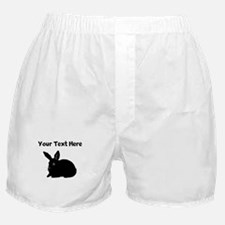Custom Bunny Silhouette Boxer Shorts