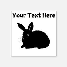 Custom Bunny Silhouette Sticker
