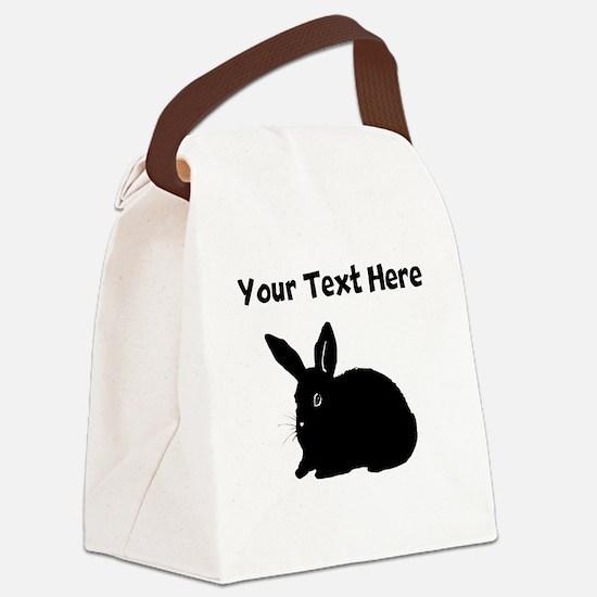 Custom Bunny Silhouette Canvas Lunch Bag
