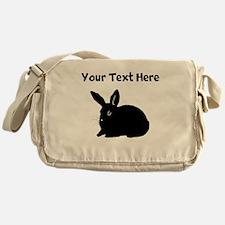 Custom Bunny Silhouette Messenger Bag
