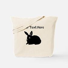 Custom Bunny Silhouette Tote Bag