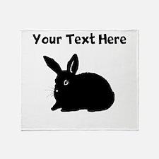 Custom Bunny Silhouette Throw Blanket