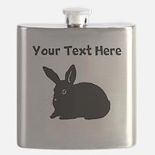 Custom Bunny Silhouette Flask