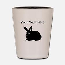 Custom Bunny Silhouette Shot Glass