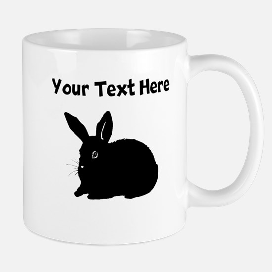 Custom Bunny Silhouette Mugs