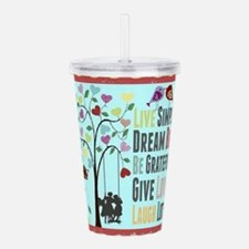 Live Simply Acrylic Double-Wall Tumbler
