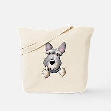 Pocket Schnauzer Tote Bag
