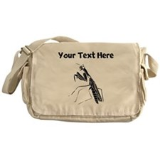 Custom Preying Mantis Silhouette Messenger Bag