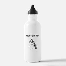 Custom Preying Mantis Silhouette Water Bottle