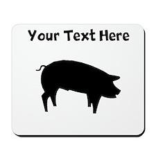 Custom Pig Silhouette Mousepad