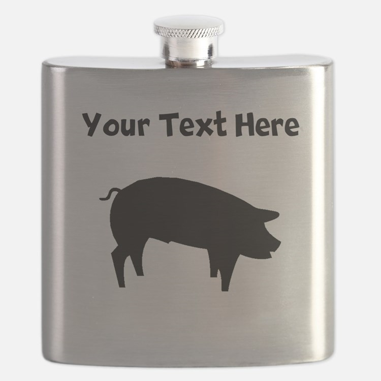 Custom Pig Silhouette Flask