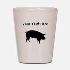 Custom Pig Silhouette Shot Glass