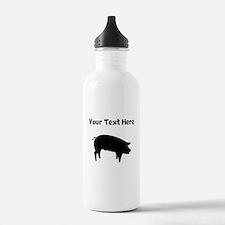 Custom Pig Silhouette Water Bottle