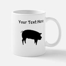 Custom Pig Silhouette Mugs