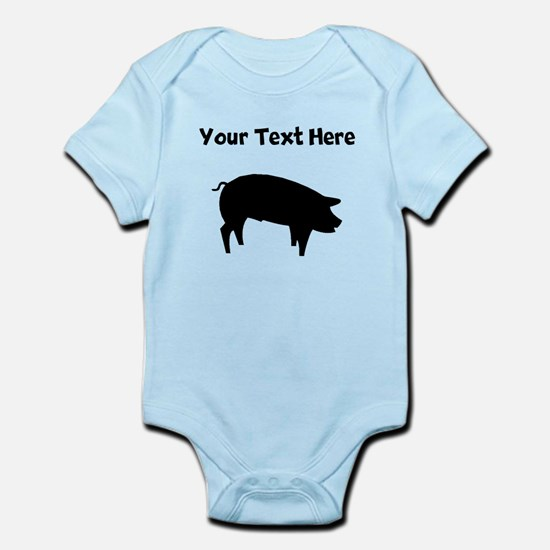 Custom Pig Silhouette Body Suit