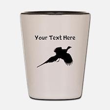 Custom Pheasant Silhouette Shot Glass
