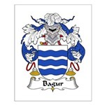Bagur Family Crest Small Poster