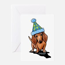 Party Dachshund Greeting Cards