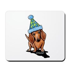 Party Dachshund Mousepad