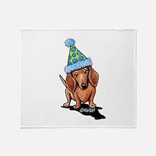 Party Dachshund Throw Blanket