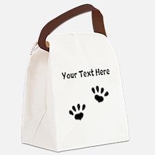 Custom Pawprints Silhouette Canvas Lunch Bag