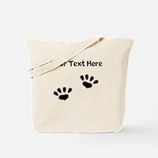Custom Pawprints Silhouette Tote Bag