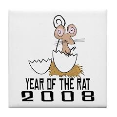 Baby Rat 2008 Tile Coaster
