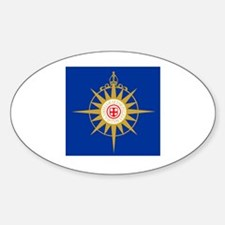 Anglican Flag Sticker (Oval)